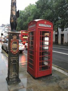 ロンドンの電話ボックス
