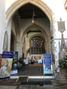 ライの観光スポット聖メアリー教会の様子