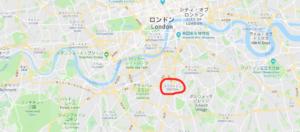 ブリクストンマーケットの地図