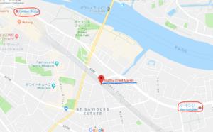 穴場のマーケットの地図