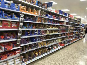 イギリスのスーパーの様子