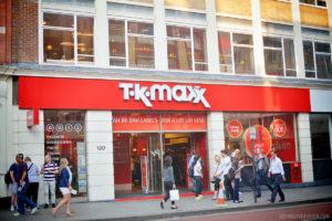 ロンドン市内に複数店舗あるアウトレットのお店