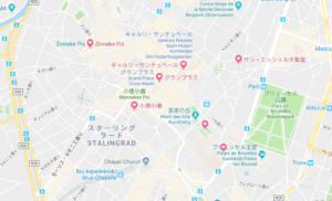 ブリュッセル市内マップ