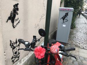 ブリュッセルの街中のあるウォールアート