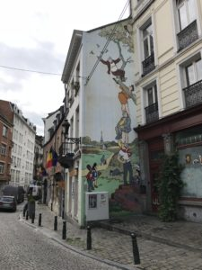 ブリュッセルのウォールアート