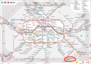 ベルリンの電車マップ