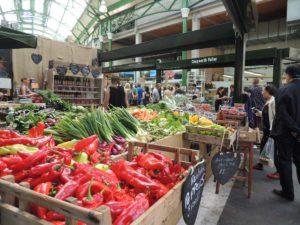 Borough marketに並ぶ新鮮な野菜