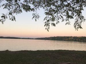 ヴァンゼーの夕焼けの景色