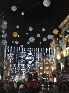 オックスフォードサーカスのクリスマスイルミネーション