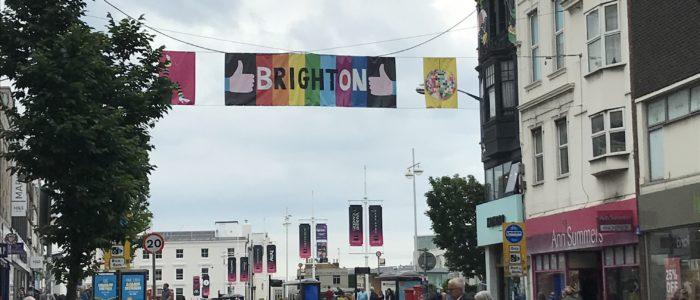 ブライトンの街中の様子