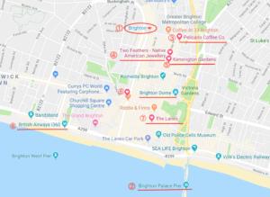 ブライトンの観光地図